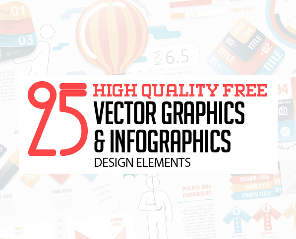 25 Free Vector Graphics and Infographics Design Elements