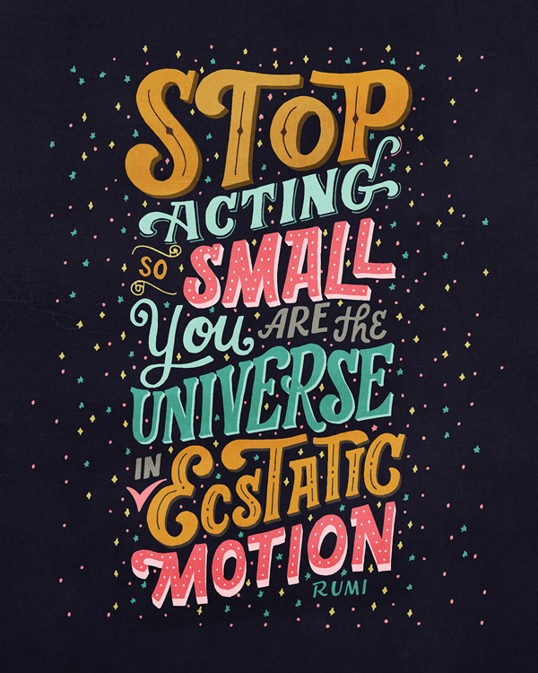 Stop Acting So Small by Mye De Leon