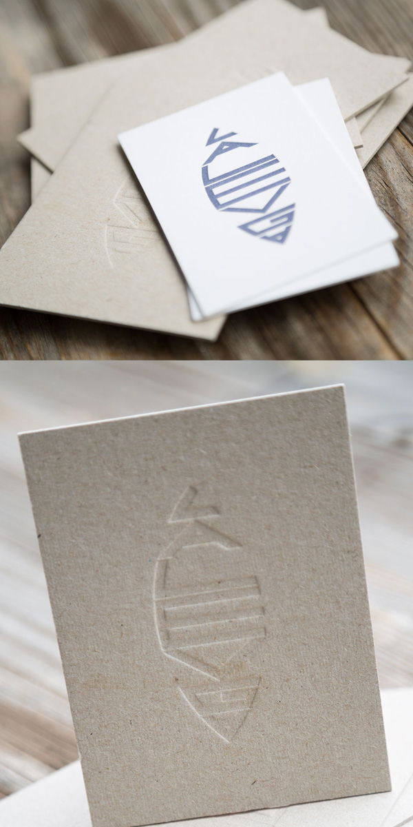 Business Cards Printed and Embossed with Letterpress