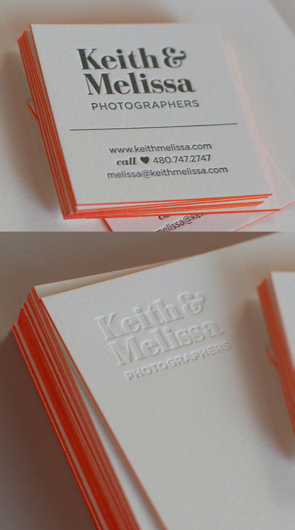 Keith & Melissa: Photographers Business Card