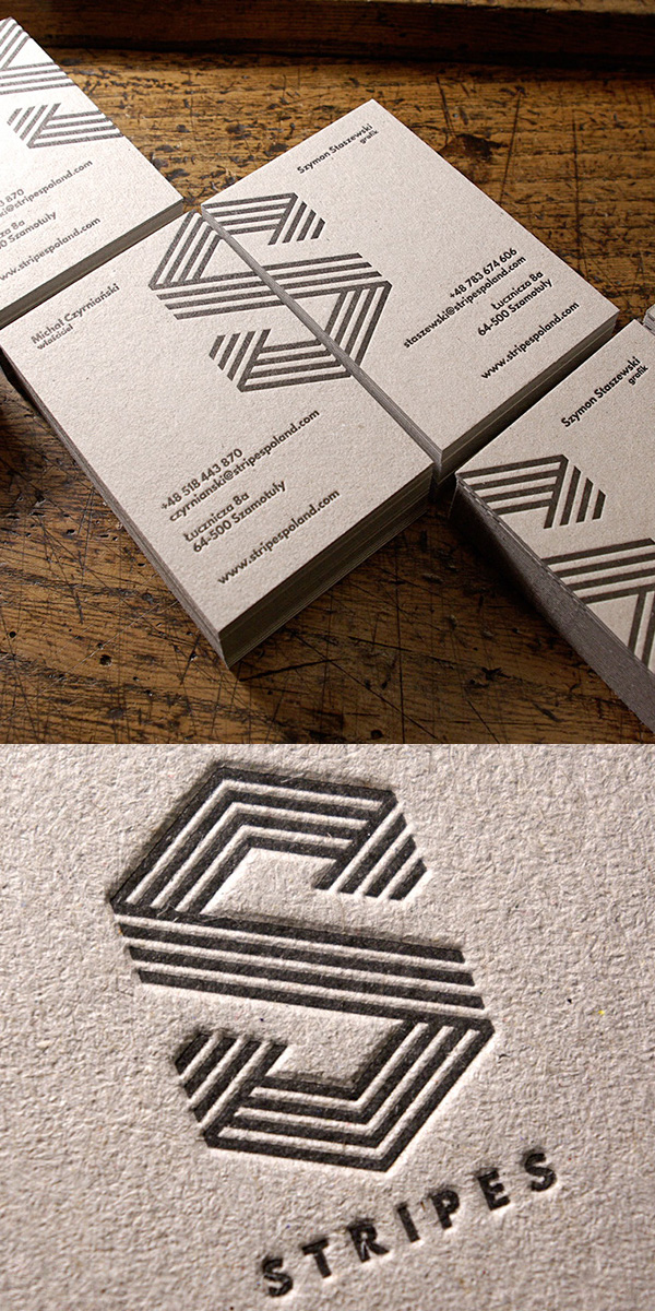 Strips Letterpress Business Card