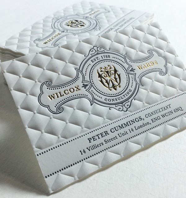 3D Embossed Foiled Business Cards