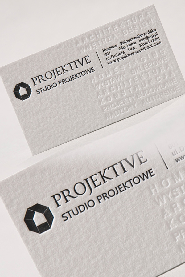 Projektive Letterpress Business Card