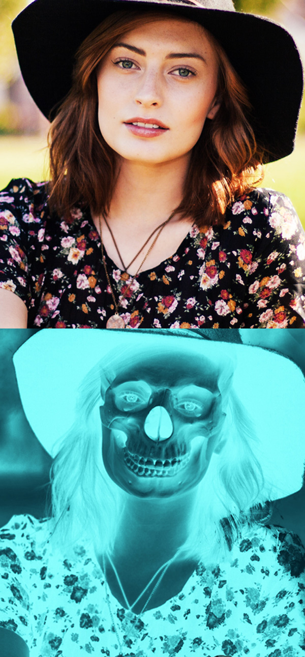 How to Transform Picture into a X-Ray Skull Effect in Photoshop Tutorial