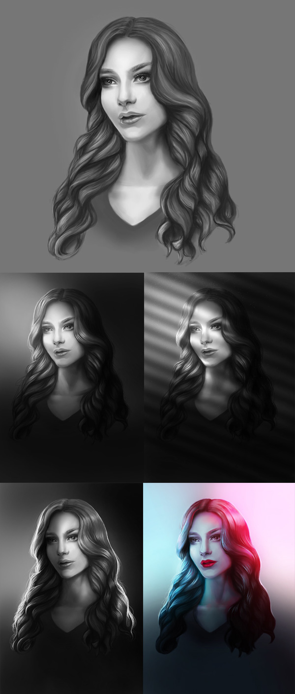 How to Create Dramatic Lighting in Your Digital Painting Portraits