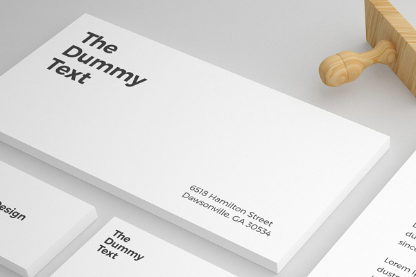 Free Stationary Mockup PSD Template - 2