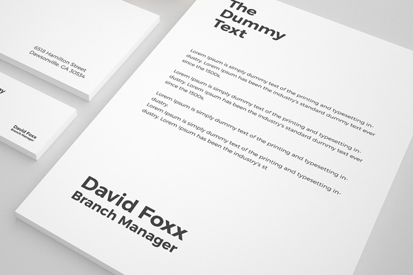 Free Stationary Mockup PSD Template - 3