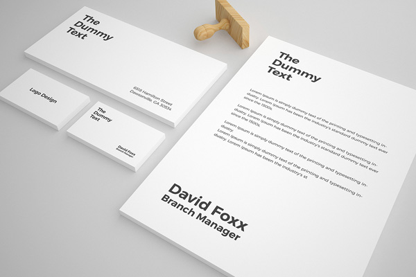 Free Stationary Mockup PSD Template - 4