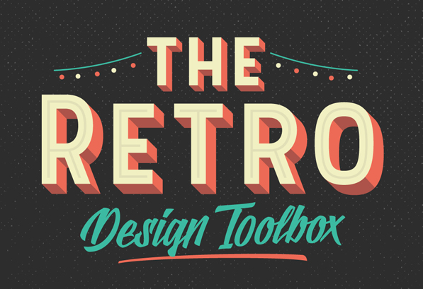 The Retro Design Toolbox: 62 Fonts & 1147 Graphic Elements