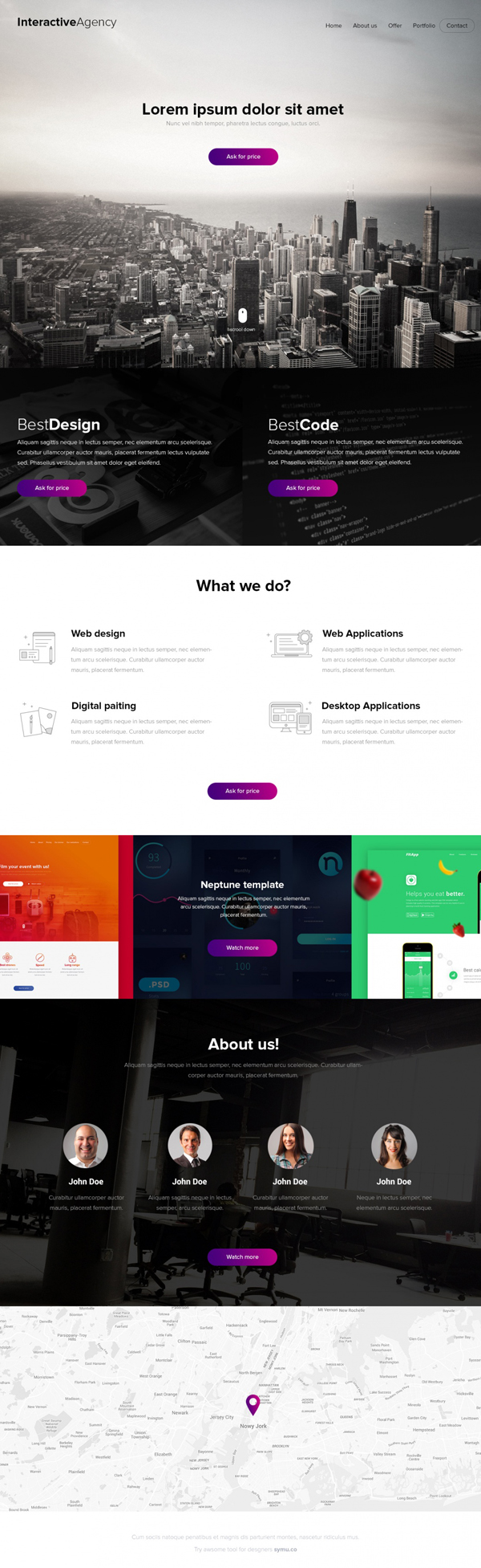 12 new free psd website templates freebies graphic design junction interactive agency psd template maxwellsz