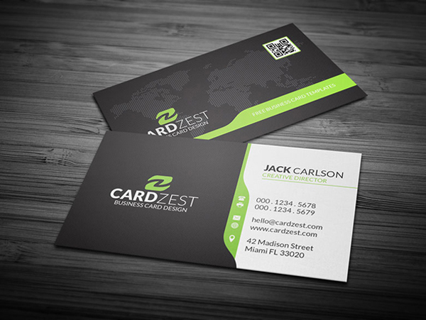 Language School  Premium Business card PSD Template