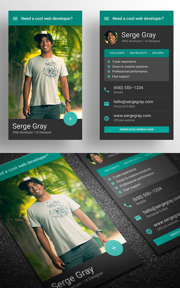 New business cards psd templates design graphic design junction material design business card template reheart Gallery