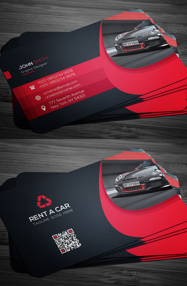 Rent A Car Business Card Template
