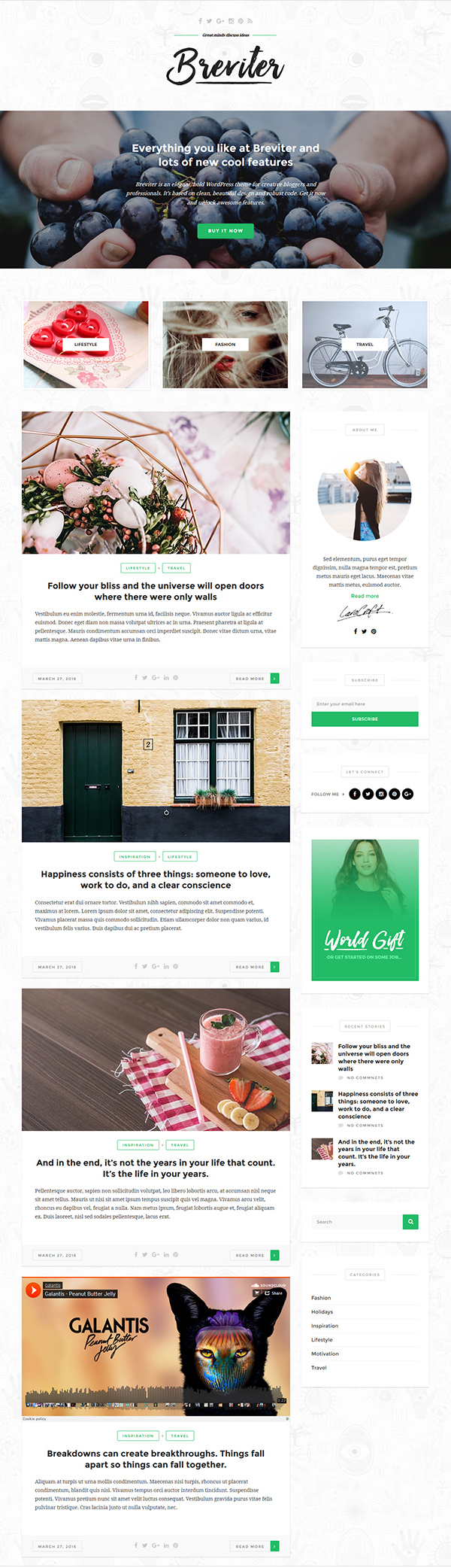 Free Creative Blog PSD Website Template