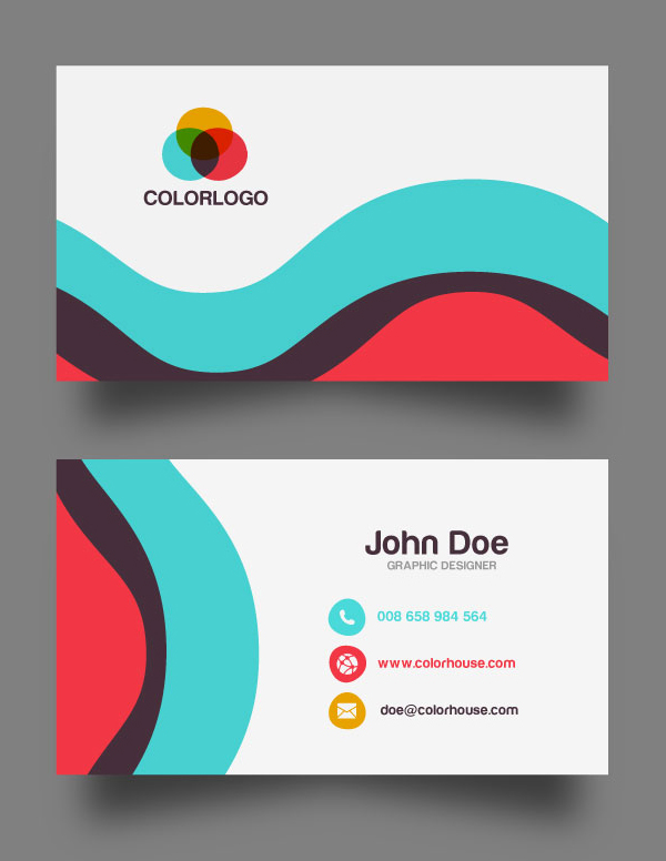 Flat Business Card Template (Free Download)