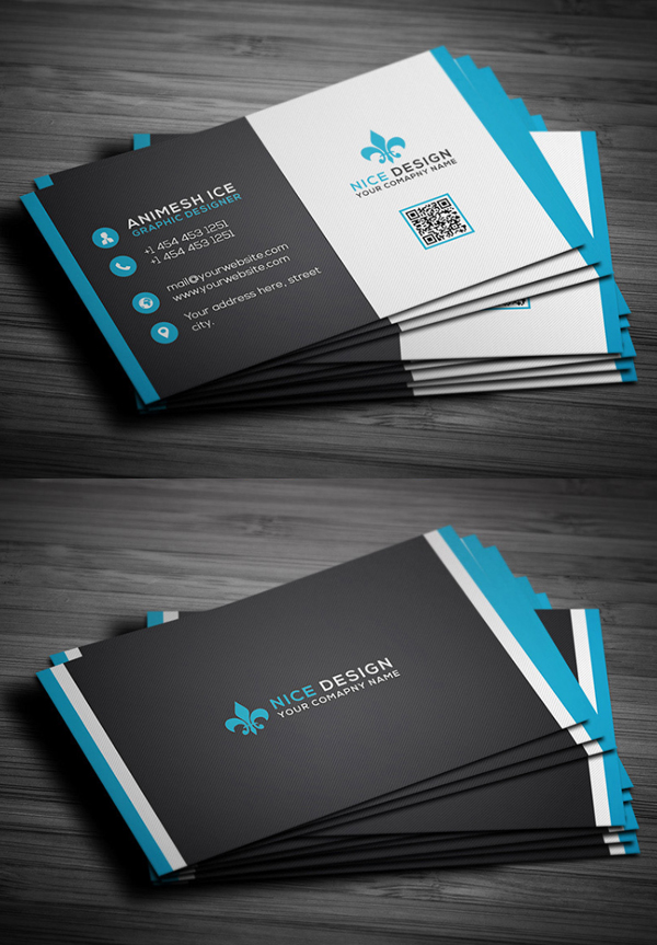 30 free business card psd templates mockups design graphic free simple business card template wajeb Images