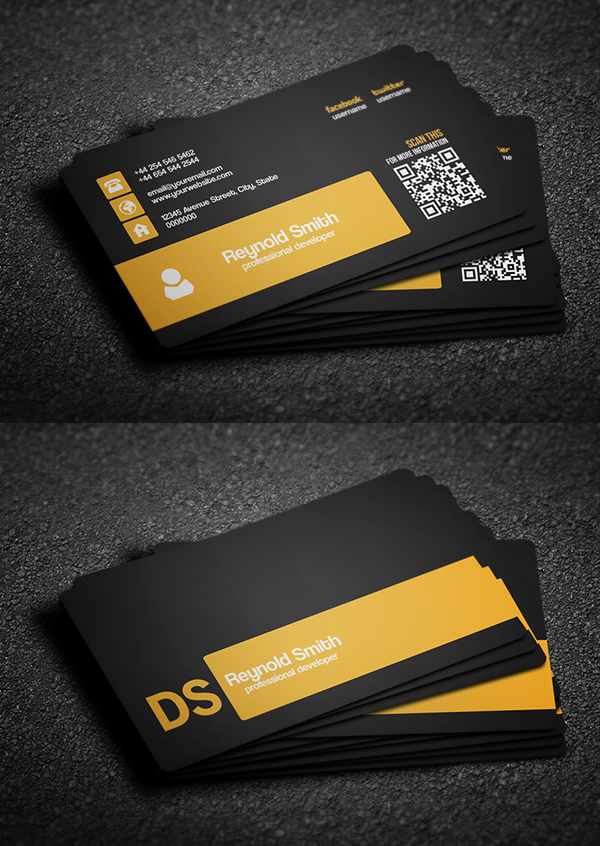 Double Side Free Business Card Template
