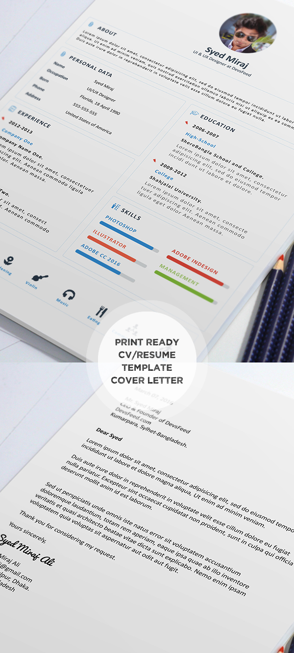Free Print ready Resume and Cover later