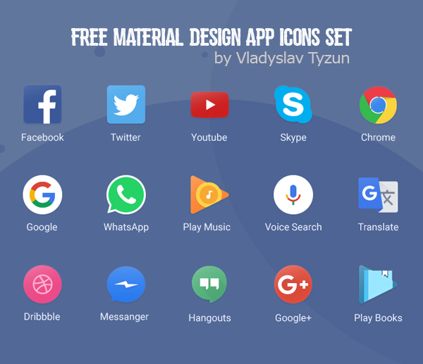 800+ Material Design Free Icons for Web, iOS and Android UI Design ...