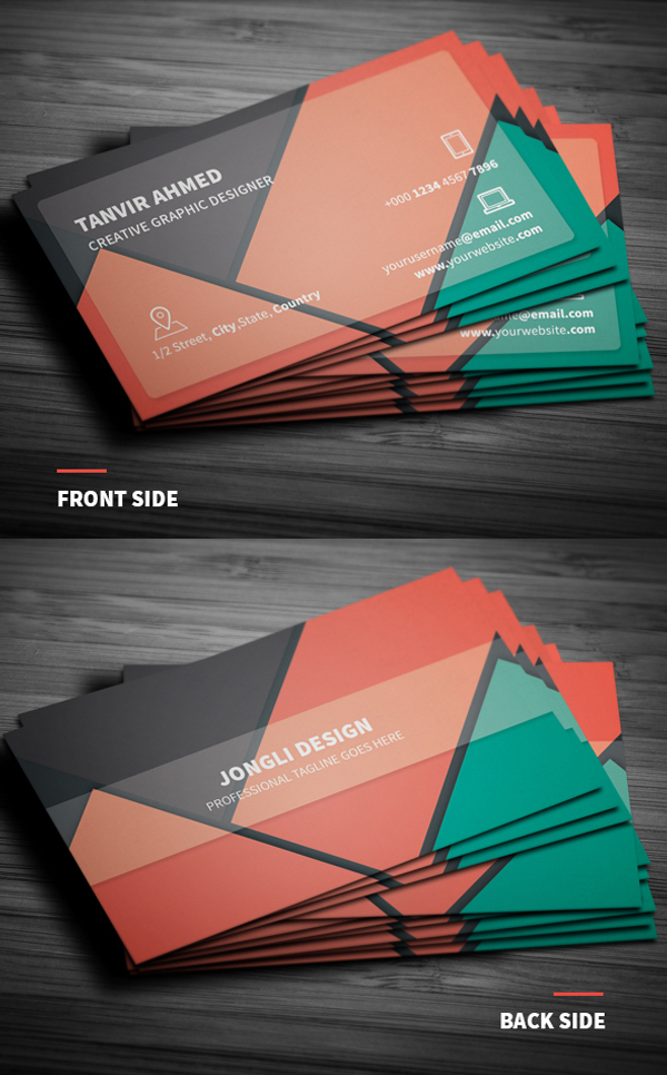 Free Material Business Card Template