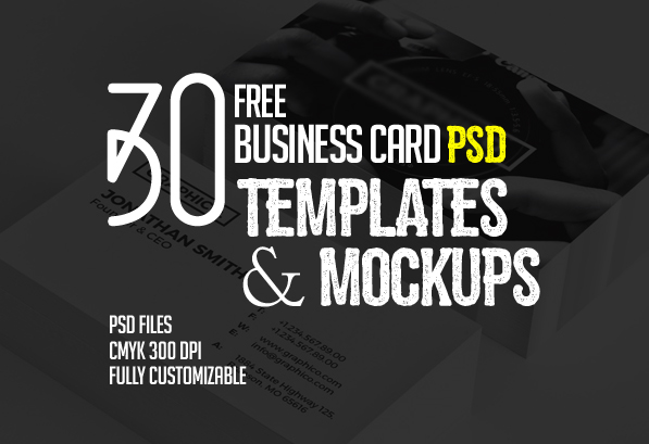 30 free business card psd templates mockups design graphic 30 free business card psd templates mockups reheart Choice Image