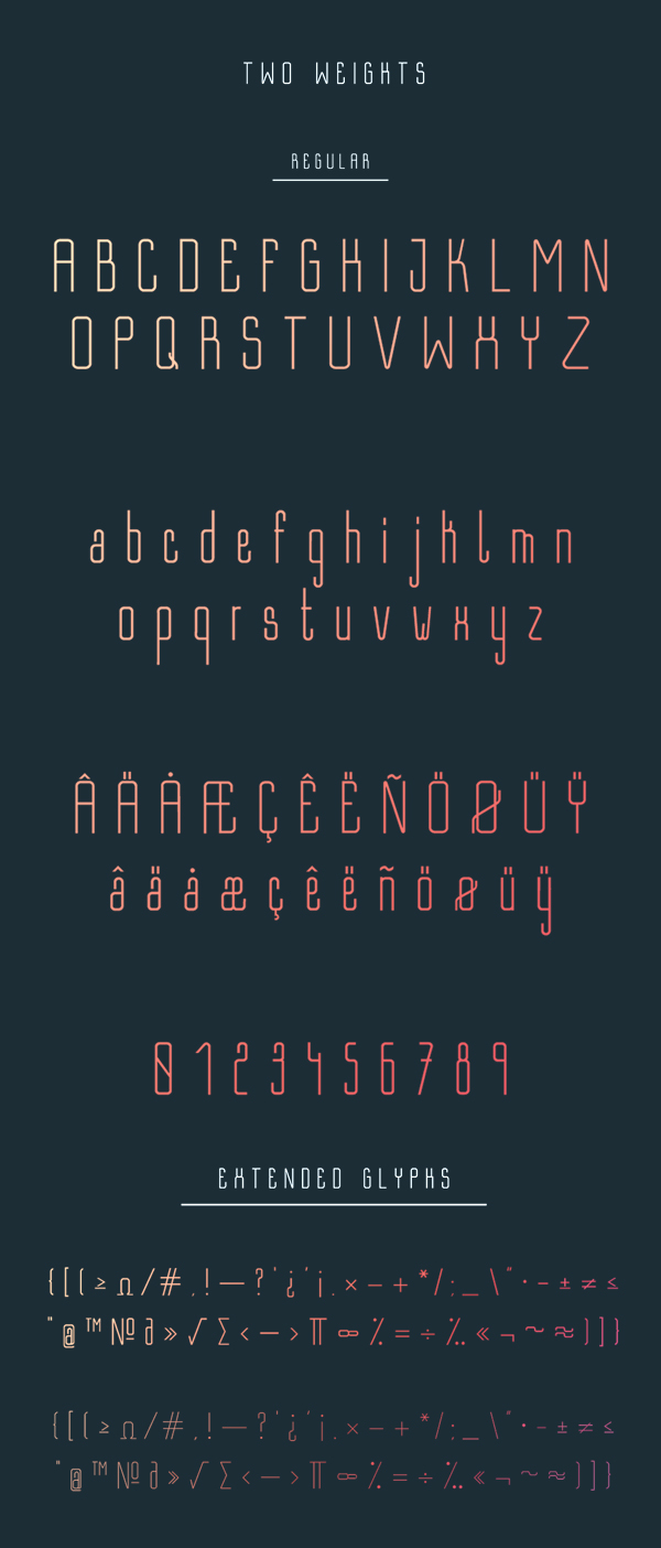 Bastell fonts and letters