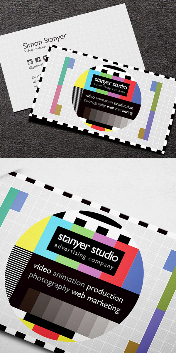 Video Producer Business Card Template