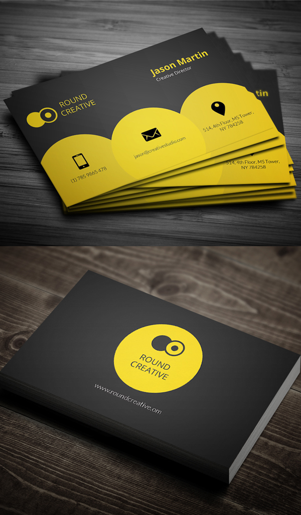 Creative Yellow Business Card