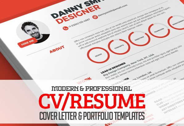 13 modern cvresume templates cover letter portfolio page - What Is A Resume Cover Letter