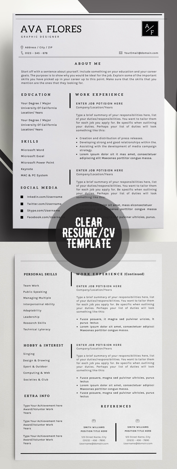 50 Best Minimal Resume Templates - 6