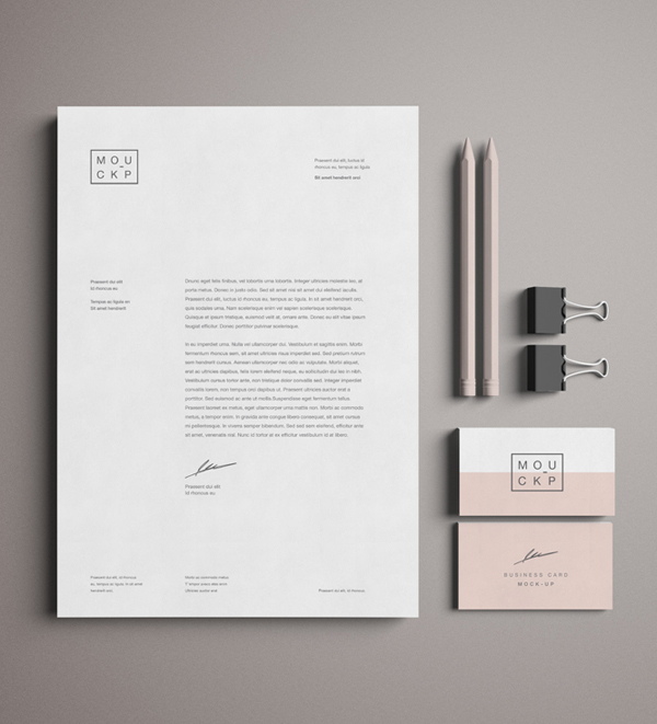 Free Advanced Branding Stationery Psd Mockup