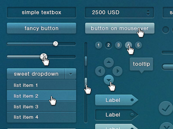 Free Transparent GUI PSD Kit