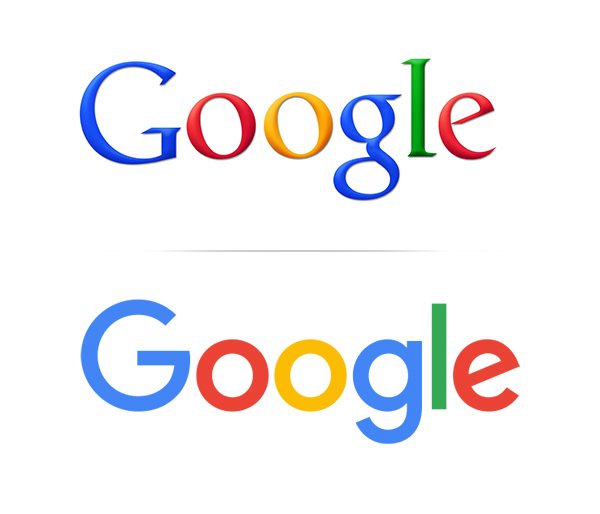 Google old and Goolgle Flat logo