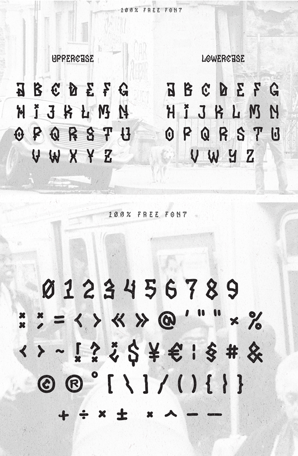 Hater Free Hipster Fonts and Letters