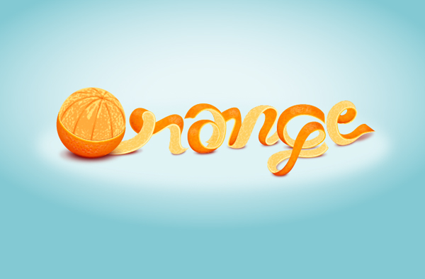 Learn to create an Orange Text Effect