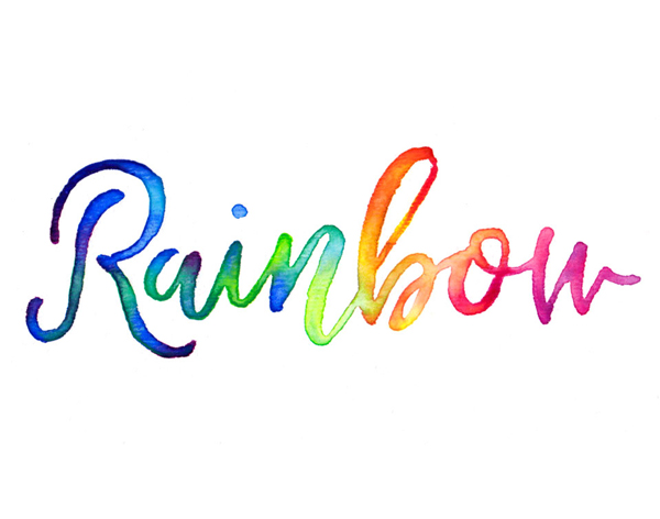 How to Create Colorful Rainbow Brush Text Effect