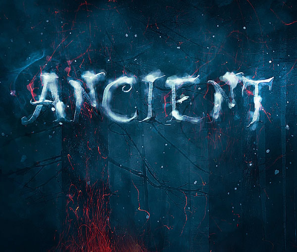 Create Typography Using A Mixture Of Snow And Fire Elements In Photoshop
