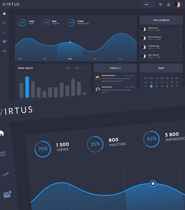 30 free futuristic dashboard ui ux psd templates freebies