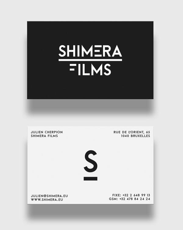 Shimera Films Business Cards