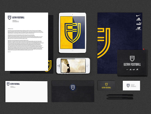 Ultra Football Branding Stationary