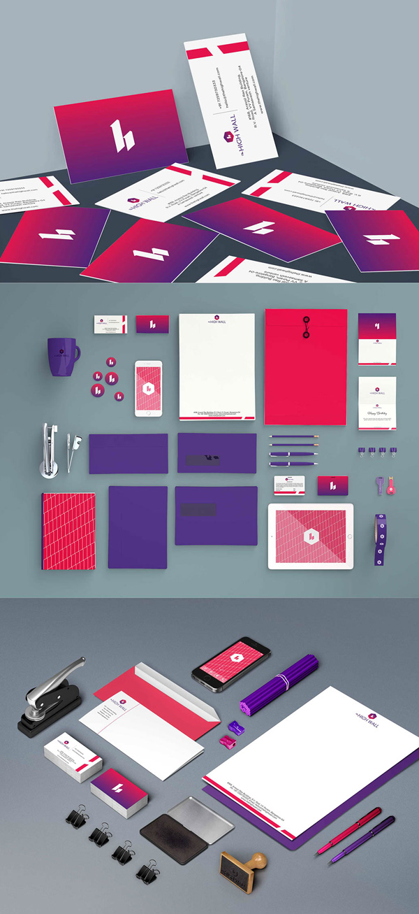 The High Wall Branding Stationary