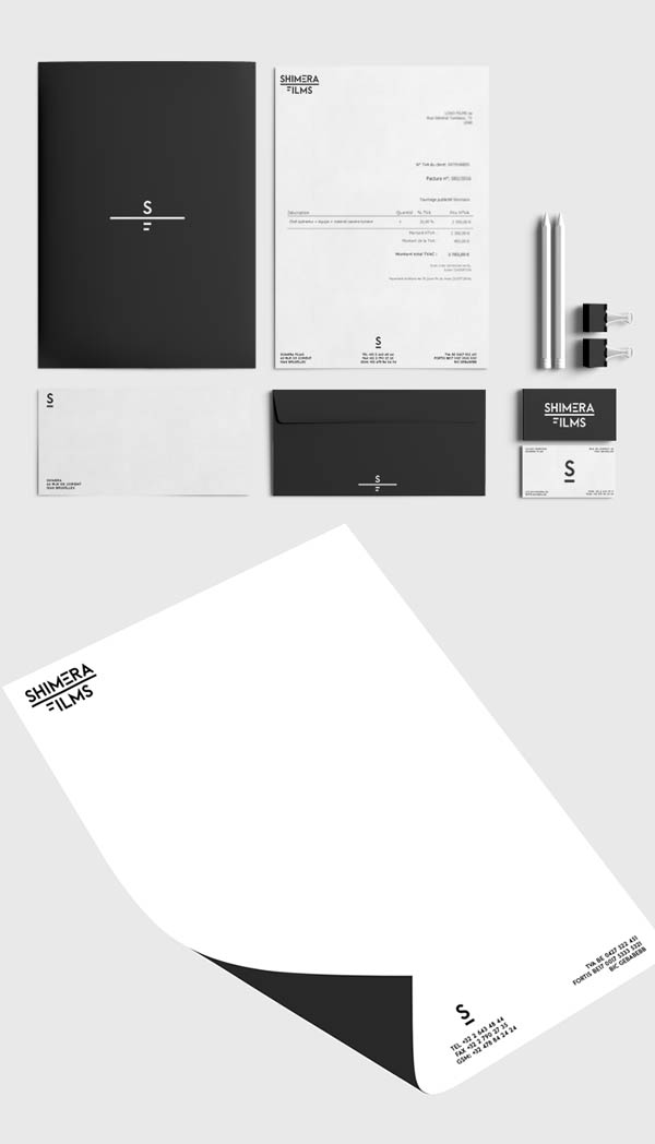 Shimera Films Branding Stationary