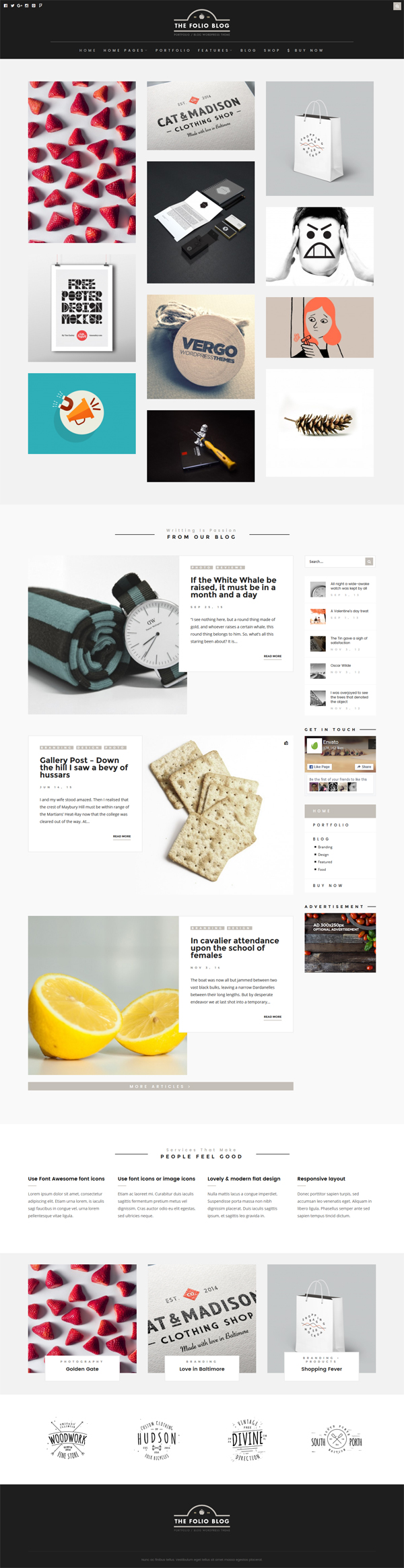 FolioBlog - Creative & Responsive Theme For Artists & Bloggers