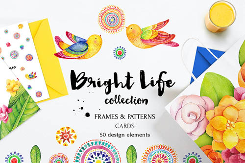Bright life watercolor set