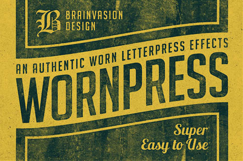 Wornpress – Photoshop Action