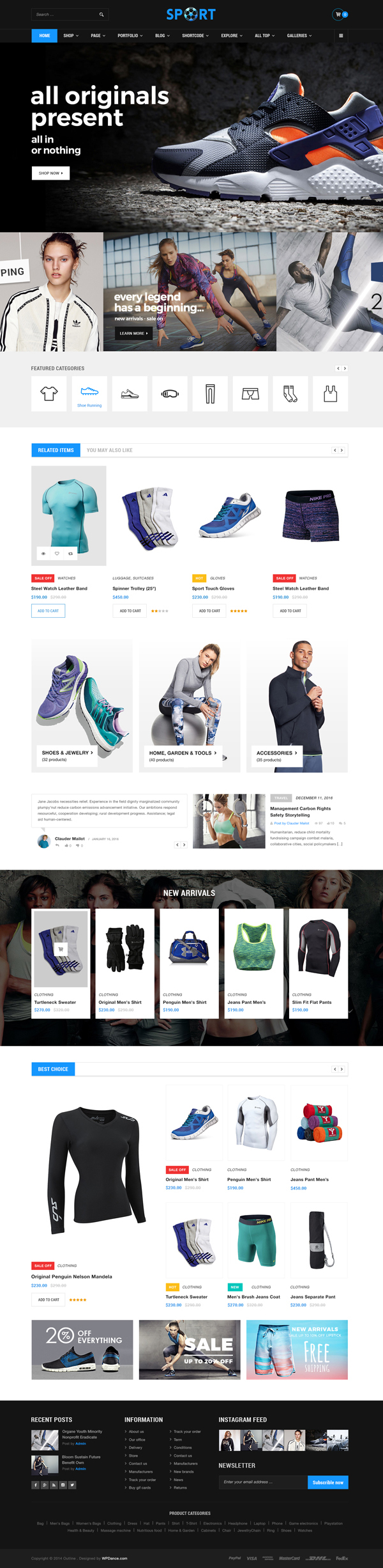 WooCommerce Responsive Premium Theme | WordPress OutLine Supermarket Electronic Fashion Sport eComme