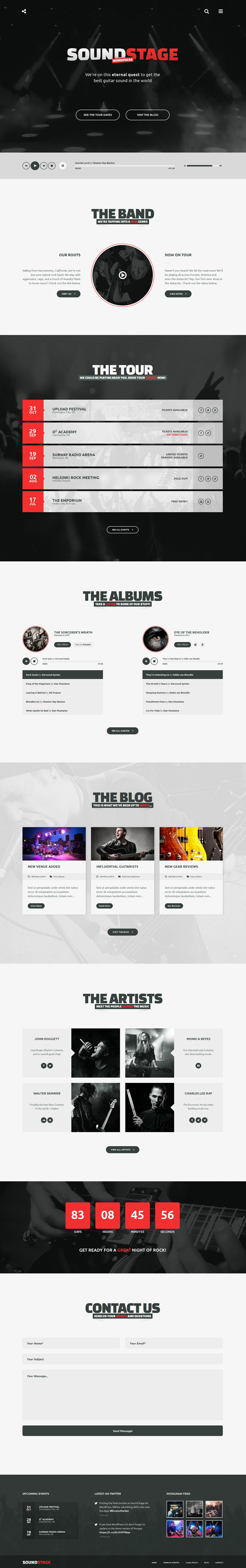 Sound Stage - A Professional WordPress Theme for Music & Bands