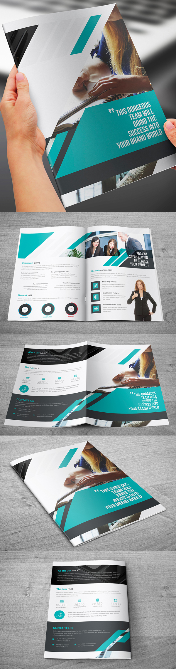 Bi-Fold A4 Corporate Brochure Template