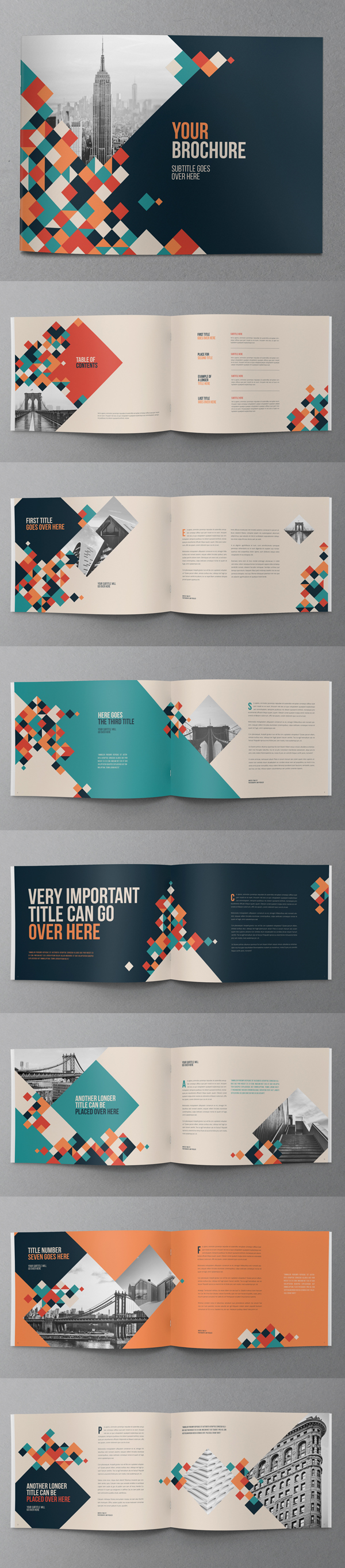Creative Colorful Squares Brochure Design