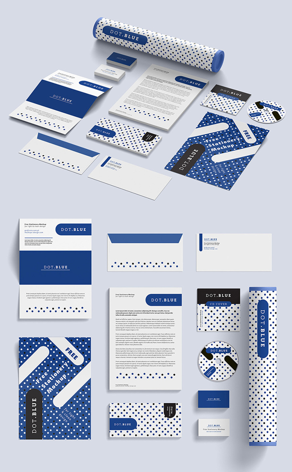 Free Corporate Identiy Mockup Psd Templates